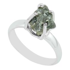 3.87cts natural certified diamond rough 925 silver solitaire ring size 7 p67190