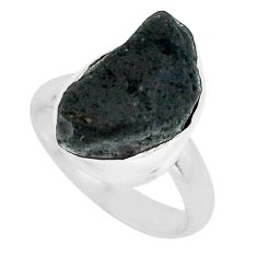 6.36cts natural chintamani saffordite 925 silver solitaire ring size 4.5 p69229