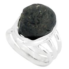 7.38cts natural chintamani saffordite 925 silver solitaire ring size 5 p69274