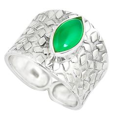 4.94cts natural green chalcedony 925 silver solitaire ring jewelry size 9 p51008