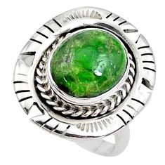 5.32cts natural green chrome diopside 925 silver solitaire ring size 8.5 p42192