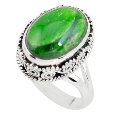 7.10cts natural green chrome diopside 925 silver solitaire ring size 6.5 p56490