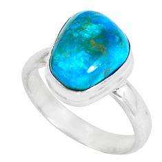 4.42cts natural green opaline 925 silver solitaire ring jewelry size 7 d31490