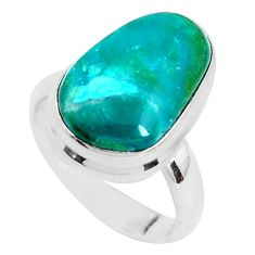 8.03cts natural green opaline 925 silver solitaire ring jewelry size 6 p40153
