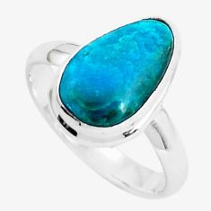 5.63cts natural green opaline 925 silver solitaire ring jewelry size 9 p46981