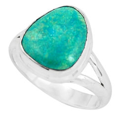 5.79cts natural green opaline 925 silver solitaire ring jewelry size 8.5 p61351