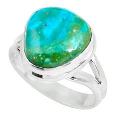 6.58cts natural green opaline 925 silver solitaire ring jewelry size 8 p61929