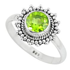 1.07cts natural green peridot 925 silver solitaire ring jewelry size 7 p64130