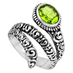 2.19cts natural green peridot 925 silver solitaire ring jewelry size 7 p89580