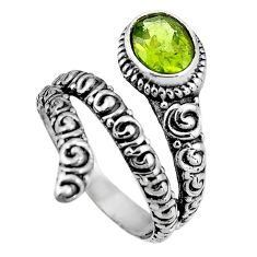 2.20cts natural green peridot 925 silver solitaire ring jewelry size 8 p92071
