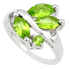 5.45cts natural green peridot 925 sterling silver ring jewelry size 7.5 p81796