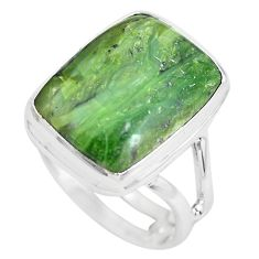 14.26cts natural green swiss imperial opal silver solitaire ring size 9.5 p61497