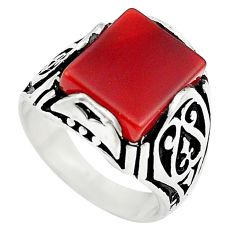 4.82cts natural honey onyx 925 sterling silver mens ring jewelry size 7.5 c4017