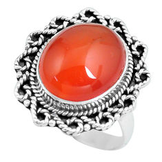 7.66cts natural honey onyx 925 sterling silver solitaire ring size 8 d32102