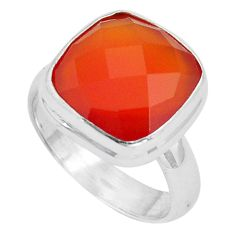 6.53cts natural honey onyx 925 sterling silver solitaire ring size 6 p89905