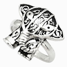 5.89gms natural indonesian bali style solid silver elephant ring size 8.5 c4188