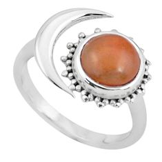 3.50cts natural jasper red 925 silver adjustable solitaire ring size 7.5 p60988
