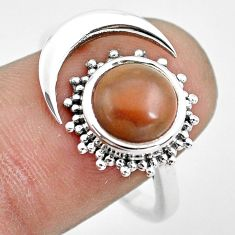 2.41cts natural jasper red 925 silver adjustable solitaire ring size 8.5 p61761
