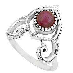 1.27cts natural jasper red 925 sterling silver solitaire ring size 8 p57831