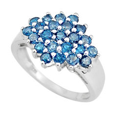 5.38cts natural london blue topaz 925 sterling silver ring jewelry size 8 c3877