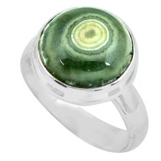 6.58cts natural ocean sea jasper 925 silver solitaire ring size 7 p68273