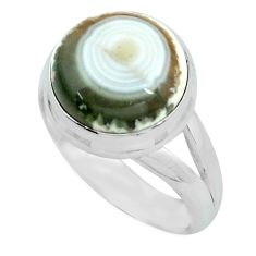6.58cts natural ocean sea jasper 925 silver solitaire ring size 7 p68274