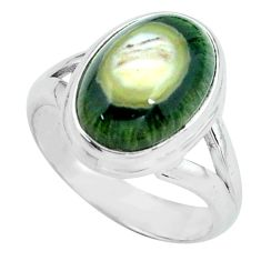 6.58cts natural ocean sea jasper 925 silver solitaire ring size 7 p68281