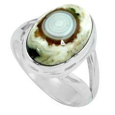 6.31cts natural ocean sea jasper 925 silver solitaire ring size 6 p68289