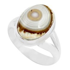 6.07cts natural ocean sea jasper 925 silver solitaire ring size 8 p71451