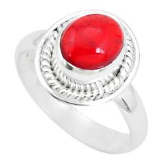 3.42cts natural orange mexican fire opal 925 silver solitaire ring size 8 p31969