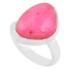 10.81cts natural pink petalite 925 silver solitaire ring jewelry size 7.5 p80649