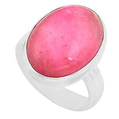 13.24cts natural pink petalite 925 silver solitaire ring jewelry size 7 p80655