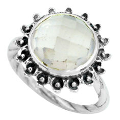 7.22cts natural pink rose quartz 925 silver solitaire ring jewelry size 8 p69825