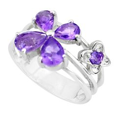 5.52cts natural purple amethyst 925 sterling silver ring jewelry size 6.5 p37196