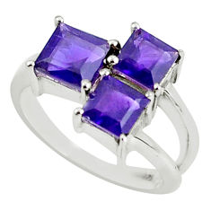 4.06cts natural purple amethyst 925 sterling silver ring jewelry size 6.5 p62120