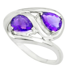 3.29cts natural purple amethyst 925 sterling silver ring jewelry size 7 p62657