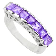 3.28cts natural purple amethyst 925 sterling silver ring jewelry size 5.5 p73143