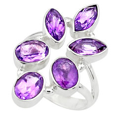 10.04cts natural purple amethyst 925 sterling silver ring jewelry size 8 p77721