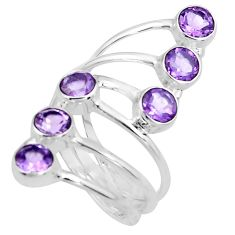 5.51cts natural purple amethyst 925 sterling silver ring jewelry size 10 p77768