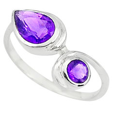 2.71cts natural purple amethyst 925 sterling silver ring jewelry size 6 p81503