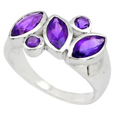 5.57cts natural purple amethyst 925 sterling silver ring jewelry size 5.5 p81523