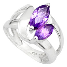 5.63cts natural purple amethyst 925 sterling silver ring jewelry size 6.5 p81542