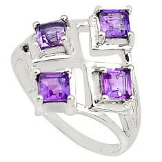 2.28cts natural purple amethyst 925 sterling silver ring jewelry size 9 p81721