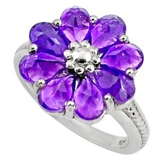8.21cts natural purple amethyst 925 sterling silver ring jewelry size 5.5 p81761