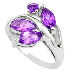 5.63cts natural purple amethyst 925 sterling silver ring jewelry size 6.5 p81781
