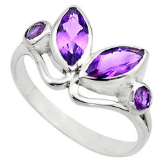 3.94cts natural purple amethyst 925 sterling silver ring jewelry size 9 p83009
