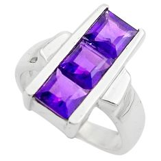 3.94cts natural purple amethyst 925 sterling silver ring jewelry size 5.5 p83091
