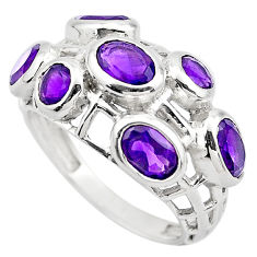 6.26cts natural purple amethyst 925 sterling silver ring jewelry size 7 p83135