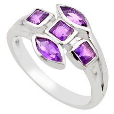 2.55cts natural purple amethyst 925 sterling silver ring jewelry size 6.5 p83283
