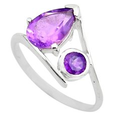 2.73cts natural purple amethyst 925 sterling silver ring jewelry size 5.5 p83541